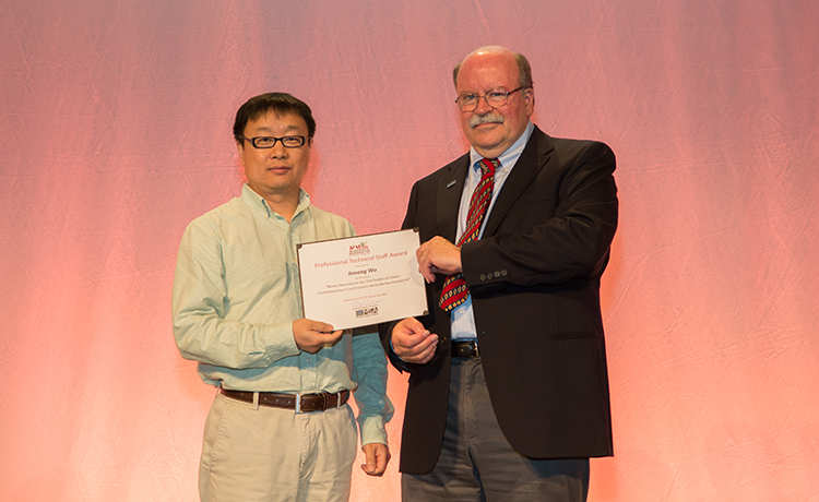 Jinsong Wu receives microscopy award!