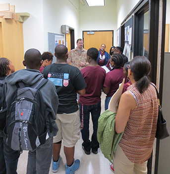 High school students tour epic nuance northwestern for Northwestern virtual tour