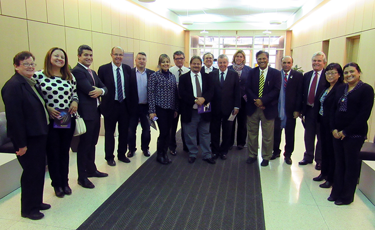 Delegation from Brazil tours NUANCE