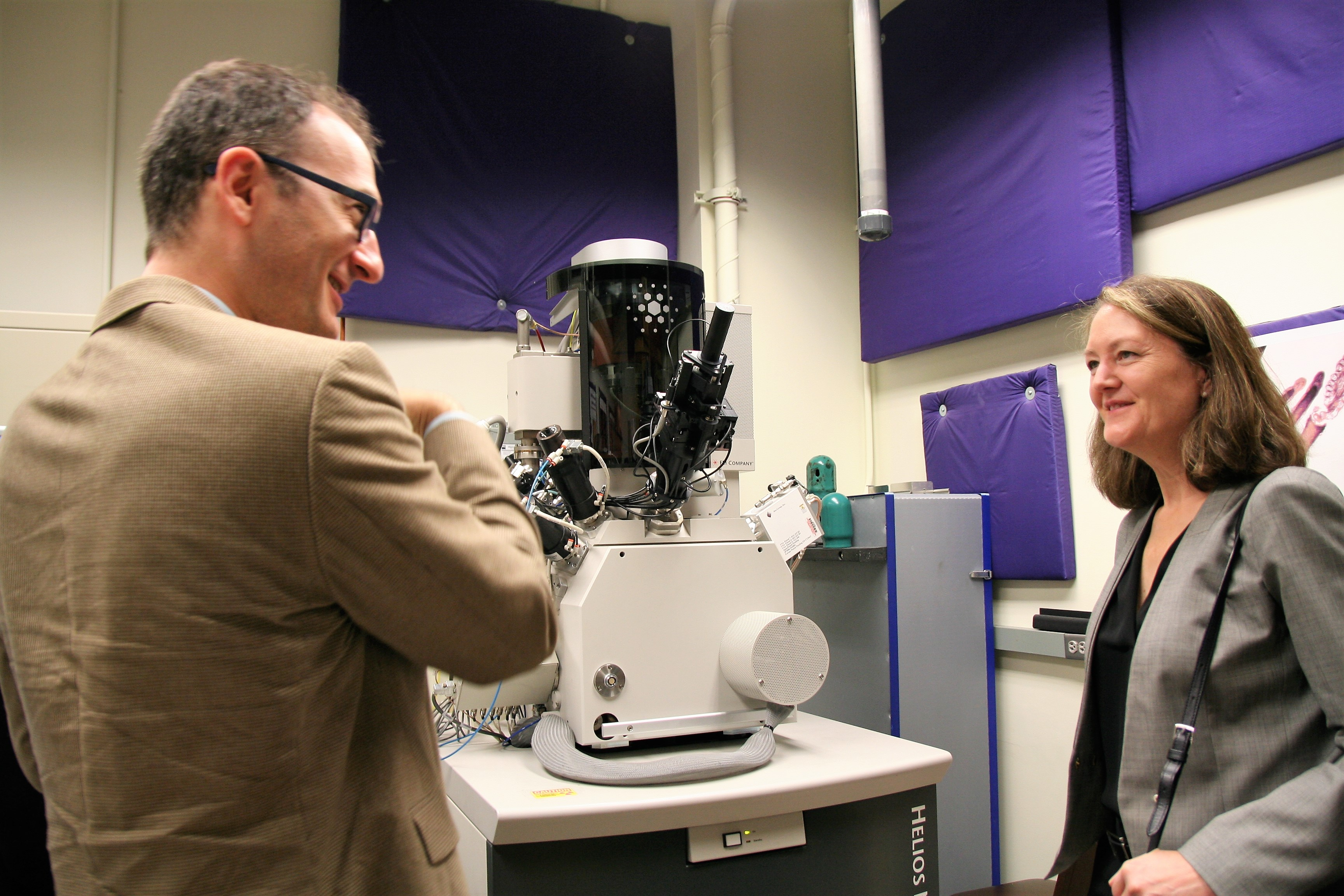 Director of Operations, Ben Meyers, gives Dr. Benson Tolle a tour of NUANCE Facilities.