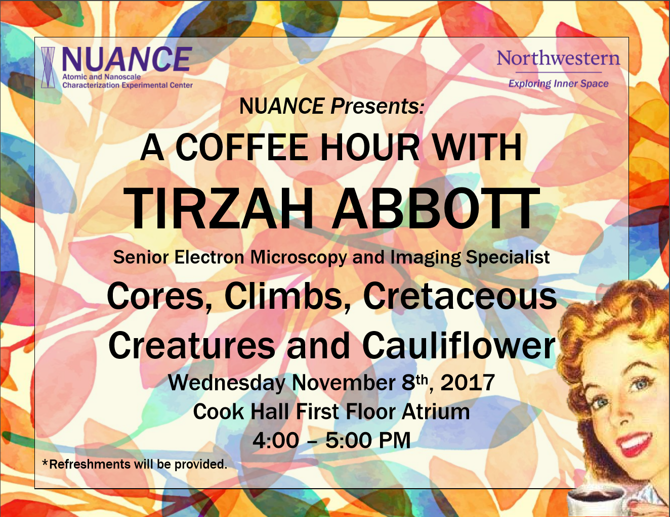 Tirzah Coffee Hour Flyer